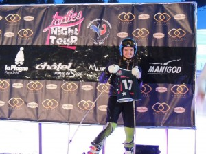 Podium Ladies Night Morzine  Perrine FIS 150217